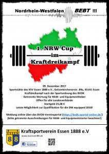 Plakat NRW Cup 2017
